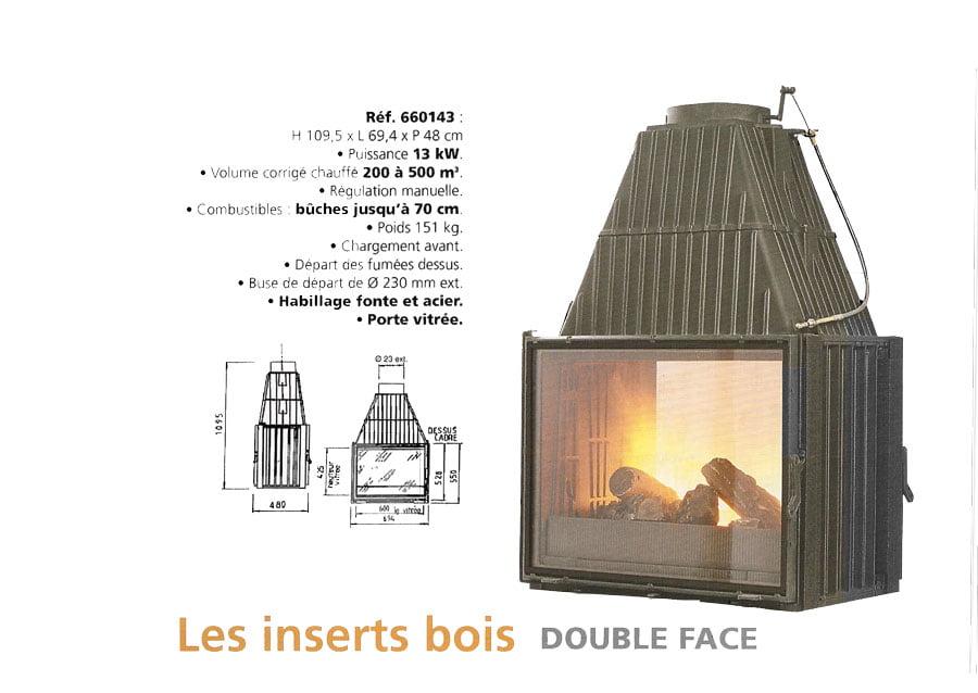 insert r f 660143 double face chemin e po le godin. Black Bedroom Furniture Sets. Home Design Ideas