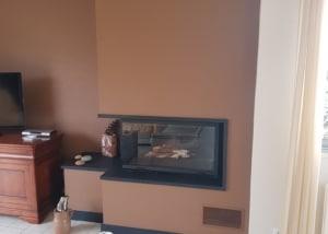 Cheminée cadre granit avec foyer 873-2V