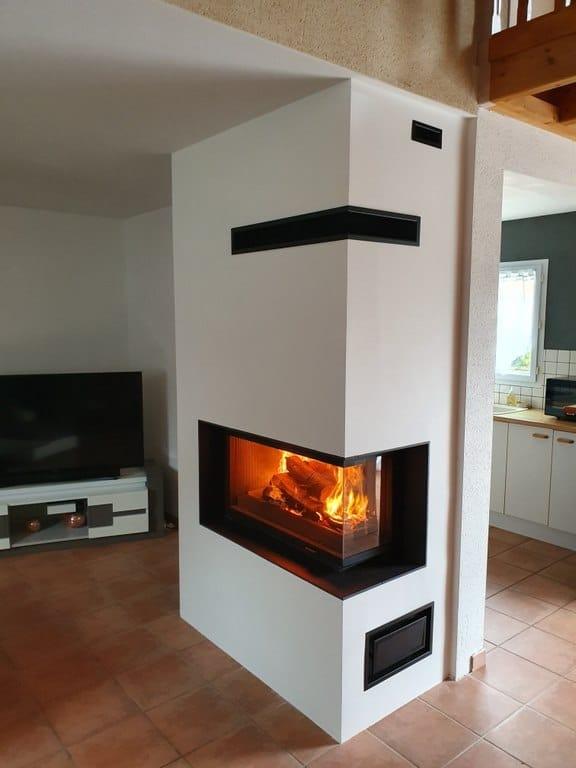 Cadre granit avec foyer 872-2V