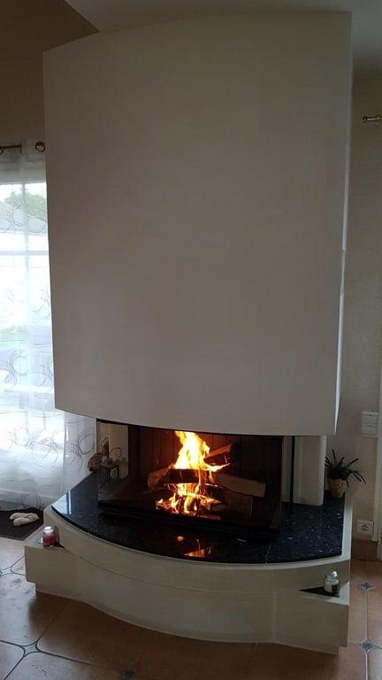 Foyer 890-3V avec sole foyère en granit