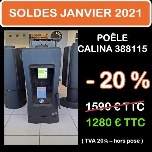 Soldes Hiver 2021 cheminées et Poêles Godin 2