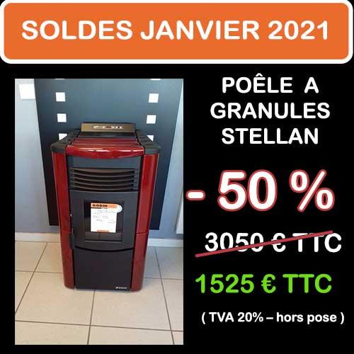 Soldes Hiver 2021 cheminées et Poêles Godin 18
